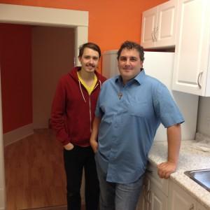 Jon Owen, caretaker of Chiara House, and Jamie Arpin-Ricci, pastor of Little Flowers Community.
