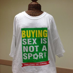 Photo courtesy of the Buying Sex is Not a Sport coalition.
