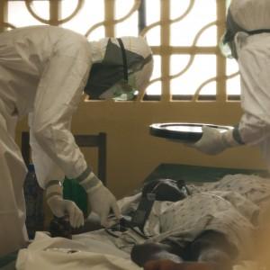 Samaritan's Purse workers care for an Ebola victim. Photo courtesy of Samaritan's Purse