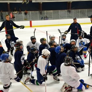 Of the nearly 2,000 boys and girls that attend Hockey Ministries International (HMI) hockey camps each year, nearly half have no religious affiliation. Photo courtesy HMI.