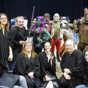 "The ""Geekdom House Wandering Minstrels"" at the Central Canada Comic-Con in Winnipeg MB. Photo by Xiam Webster."